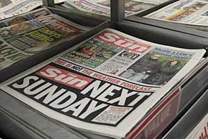 Британские таблоиды подешевели перед выходом The Sun on Sunday