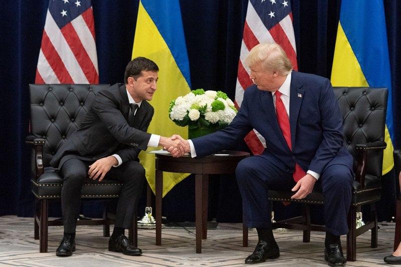 Президент України Володимир Зеленський під час зустрічі з президентом США Дональдом Трампом в Нью-Йорку, 25 вересня 2019