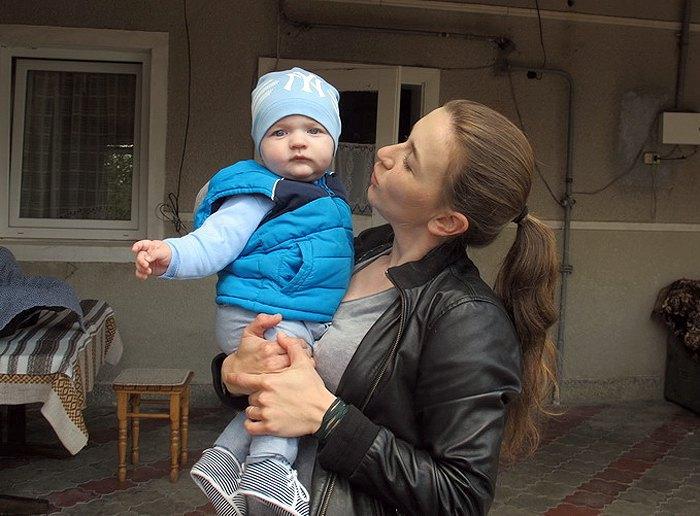 Андріана з синочком Макаром