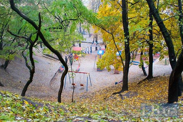 Вид на Павловский садик с Обсерваторной горки