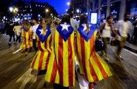 Каталонцы вышли на демонстранцию в поддержку независимости от Испании