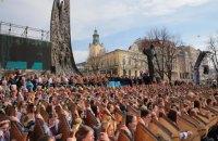 У Львові 400 бандуристів встановили рекорд з виконання творів Шевченка
