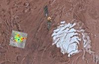 На Марсе обнаружено озеро с жидкой водой