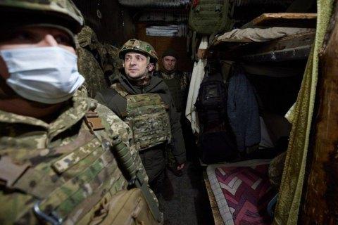 """Зеленский прибыл на Донбасс """"поддержать боевой дух"""""""