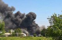 В Броварах загорелись склады с древесиной (обновлено)