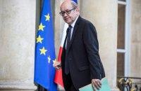 Глава МИДа Франции: рано говорить о снятии санкций с России