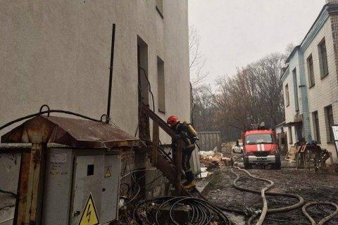 В Киеве на территории Института отоларингологии произошел пожар