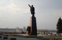 У Запоріжжі міліція не дала знести пам'ятник Леніну біля ДніпроГЕС