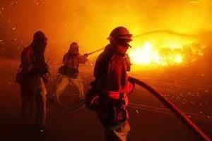 Французькі пожежники борються з вогнем біля морського курорту