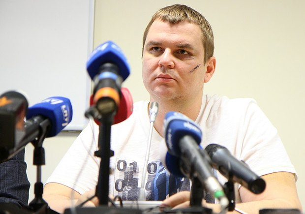 Дмитрий Булатов на пресс-конференции в Вильнюсе