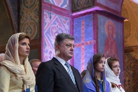 Порошенко виступив за об'єднання православних у незалежну від Москви церкву