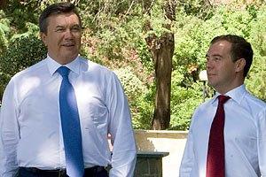 Медведев призвал Януковича не политизировать газ
