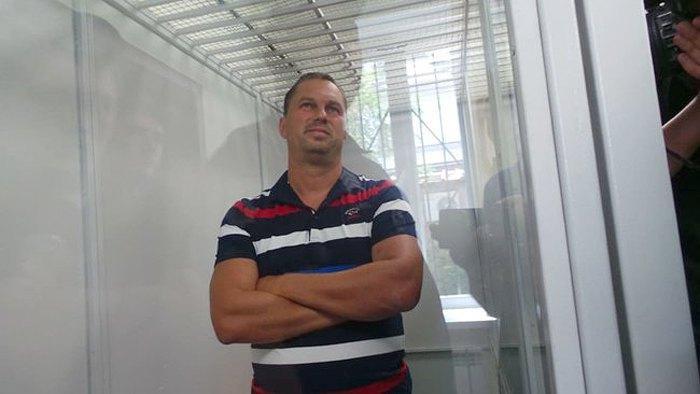 Ексглава Національної поліції в Одеській області Дмитро Головін на засіданні суду.