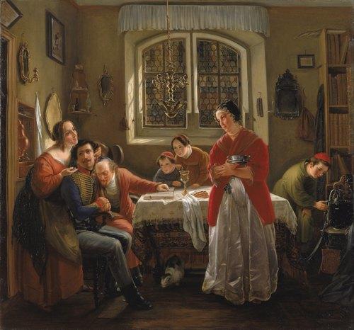 «Возвращение еврея-добровольца после Освободительной войны», худ. М. Оппенхейм, 1833