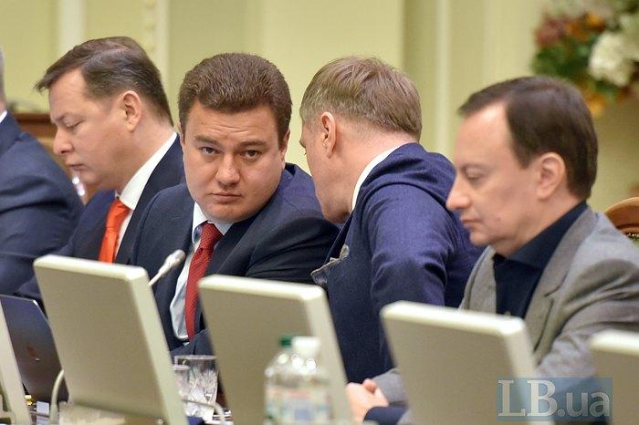Слева-направо: Олег Ляшко, Виктор Бондар и Евгений Рыбчинский