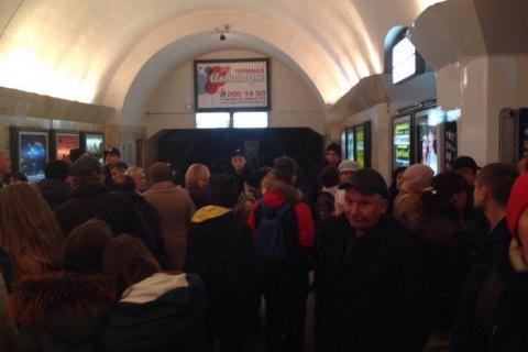 ВКиеве «анонимы» говорили о минировании 2-х центральных станций метро