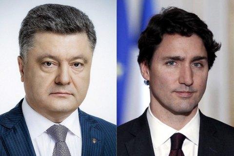 Трюдо уверил Порошенко вподдержке Украины коалицией стран G7 иНАТО