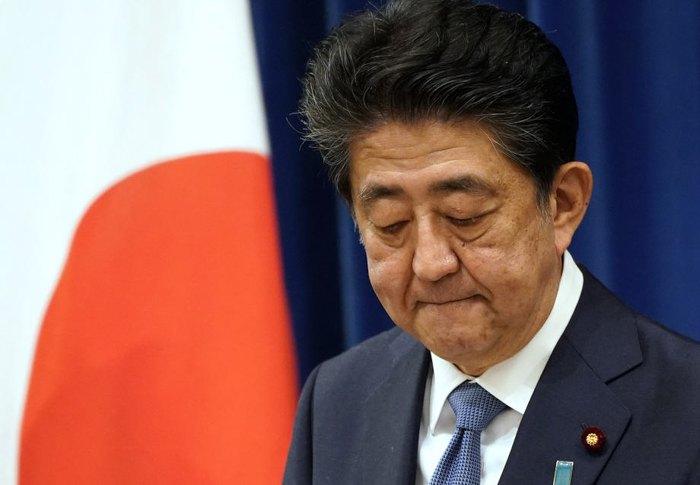 Премьер-министр Японии Синдзо Абэ во время пресс-конференции в Токио, 28 августа 2020.