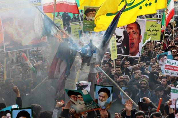 Антиамериканская акция в Тегеране