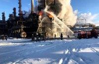 На химзаводе в Калуше произошел пожар