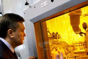 Янукович запустил электростанцию в Алчевске