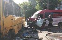 У Боярці зіткнулися дві маршрутки і легковий автомобіль, постраждали 26 осіб