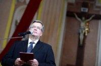 Коморовський: опозиція й активісти мають два тижні на пошук компромісу