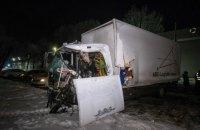 Під Києвом зіткнулися дві вантажівки, є загиблий