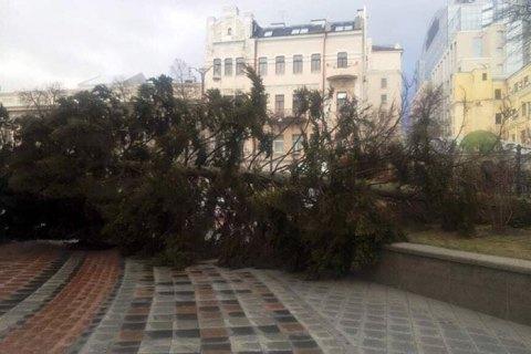 Киевские спасатели получили 41 вызов на ликвидацию повреждений от сильного ветра