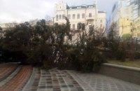 Київські рятувальники отримали 41 виклик на ліквідацію пошкоджень від сильного вітру