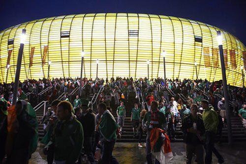 Арена Ґданська після матчу Ірландія-Іспанія