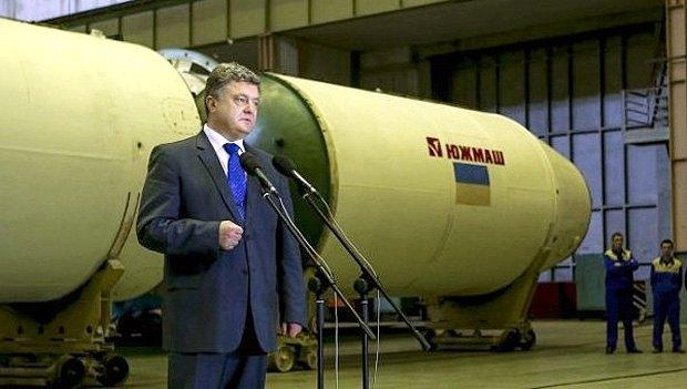 Президент України Петро Порошенко відвідав ЮЖМАШ
