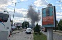 У Львові загорілося локомотивне депо біля вокзалу