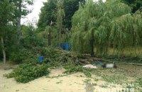 На базі відпочинку біля Харкова через падіння дерева загинула людина, ще двоє потрапили до реанімації