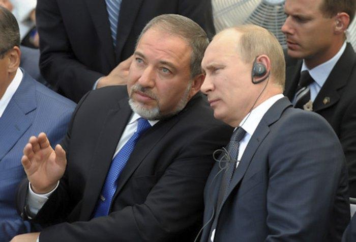 Авигдор Либерман и Владимир Путин