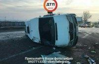 Чотири людини постраждали у масштабній ДТП на Окружній у Києві