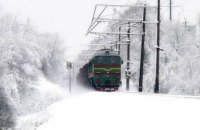 """В """"Укрзализныце"""" заверили, что на движение поездов снегопад не повлиял"""