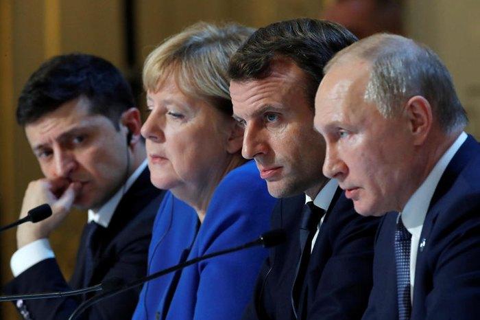 Пресс-конференция глав государств после парижского саммита