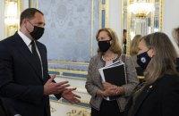 Єрмак обговорив з Нуланд посилення ролі США у врегулюванні конфлікту на Донбасі