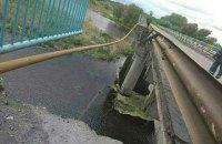 В Харьковской области обрушился мост через Северский Донец