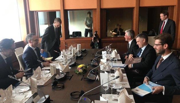 Встреча Вадима Пристайко с главой МИД Германии