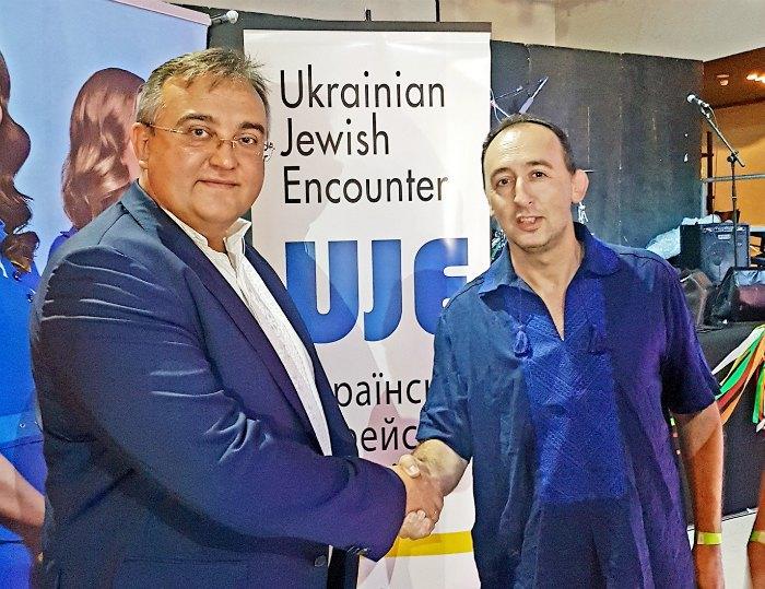 Посол Украины в Израиле Геннадий Надоленко (слева) и Шимон Бриман