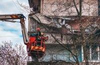 В киевской многоэтажке обвалился балкон