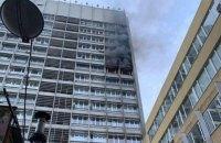 В центре Киева горел 16-этажный бизнес-центр