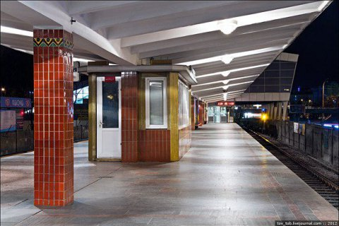 ВКиеве из-за сообщения оминировании закрывали станцию метро