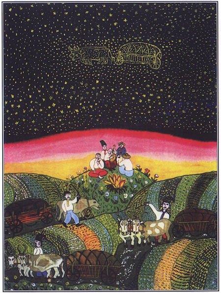 «Чумацький шлях», 1982. Олія, скло.