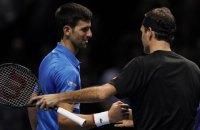Джокович зачехлил ракетку на итоговом турнире АТР, проиграв Федереру