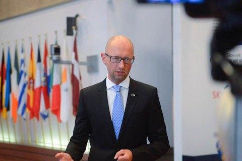Яценюк назвал вступление вНАТО основной задачей Украины