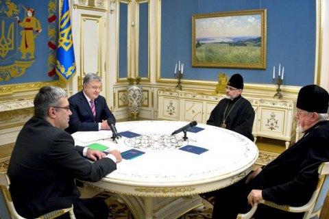 Порошенко поблагодарил епископов УПЦ в США за помощь в создании независимой украинской церкви