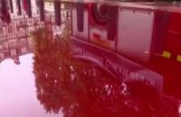 Экоактивисты в Лондоне залили минфин фальшивой кровью